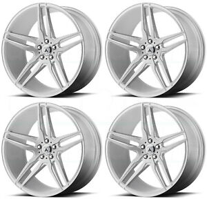 20x8 5 Asanti Black Abl 12 Orion 5x114 3 38 Brushed Silver Wheels Rims Set 4