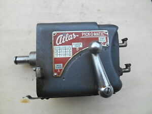 Atlas 10 Lathe Pick o matic Gear Box