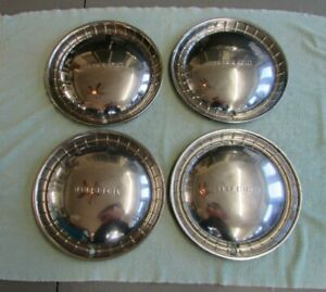 Four Vintage 1940 s 1950 s Buick Roadmaster Hubcaps