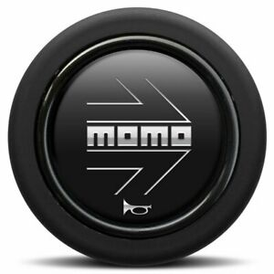 New Momo Steering Wheel Horn Button Black Silver