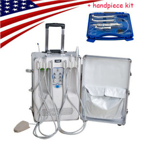 Portable Delivery Unit Cart Suitcase Compressor Dental Equipment Handpiece Kit