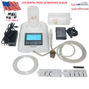 33pcs set Dental Piezo Ultrasonic Scaler With 2bottles 6 Tips For Teeth Cleaning