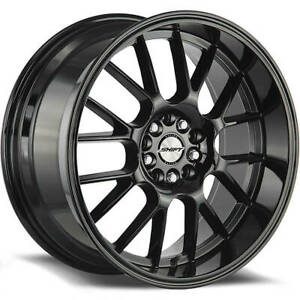 18x8 5 Shift H28 Crank 5x114 3 5x120 30 Black Wheels Rims Set 4