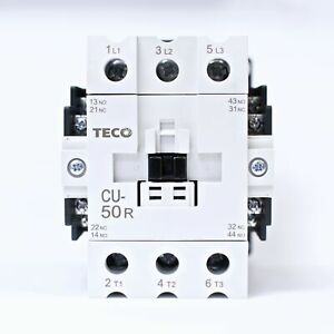 Teco Cu 50r Magnetic Contactor 80 Amp 3 Phase 110v Coil 3a2a2b taian Cn 50