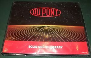 Dupont Spectramaster Solid Color Paint Chip Library Book Catalog Manual Binder