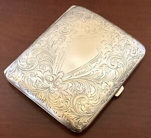 Art Nouveau Sterling Silver Cigarette Case Victorian Antique Vintage 3 3 Oz