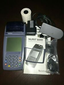 Complete With Accessories Verifone Nurit 8020 Credit Card Machine Free Shipping