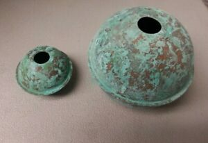 Copper Balls 2 4 Well Made Antiqued For Weathervanes Lightening Rods