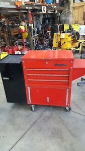 Snap On Tool Box With Snap On Creeper With Side Cabinet Enclosed Bottom