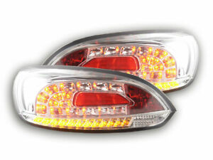Vw Scirocco Clear Chrome Look Led Tail Lights Rear Lamps 2008 2014 Model