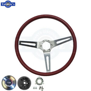 69 70 Chevelle Red Steering Wheel Cushion 3 Spoke Hub Contact Horn Cap Kit
