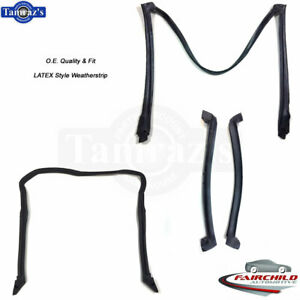 84 96 Corvette Targa Roof Top Front Side Rear Weatherstrip Seal Latex Oe Quality