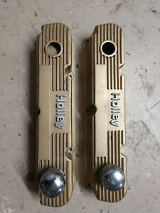 Mopar Holley Small Block Valve Covers 340 360 Nice