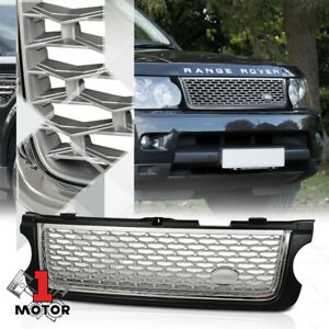 For 2010 2013 Range Rover Autobiography Style Black Chrome Silver Abs Grille