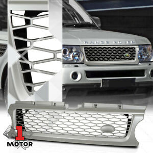 For 2010 2012 Range Rover Sport Autobiography Style Silver Abs Bumper Grille