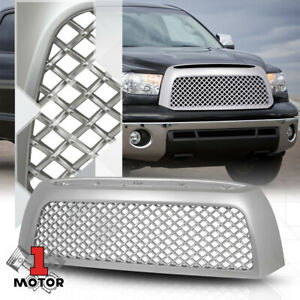 For 2007 2009 Toyota Tundra 3d Wave Mesh Matte Silver Abs Front Bumper Grille