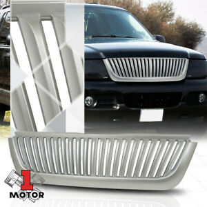 For 2002 2005 Ford Explorer Vertical Bar Glossy Silver Abs Bumper Grill Grille