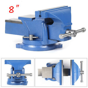 8 Inch Mechanic Bench Vise Table Top Clamp Press Locking Swivel Base Heavy New