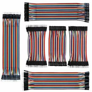 Eiechip Dupont Jumper Wires 120pins 7 9in Kit Breadboard Multicolored 40pin Male