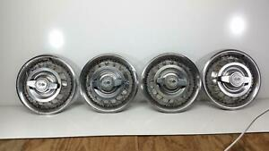 1962 1963 Chevy Ii Nova Corvair 14 Wire Wheel Cover Hubcap set
