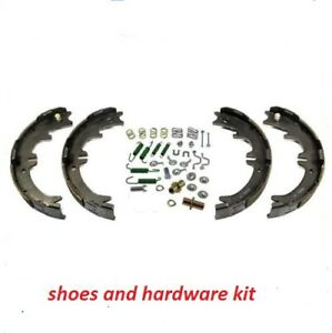 Rear Emergency Parking Brake Shoe Set W Hardware Kit For Dodge Chevy Pick Ups