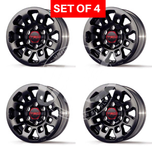 New 16 Toyota Fj Black Rims Fits Tundra Wheels Rims Set 4