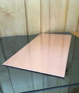 1 8 Copper Sheet Plate New 10 x20 125 Thick custom 1 8 Sizes Available