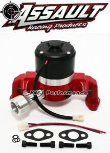 Small Block Chevy 350 Electric High Volume Water Pump Red Drag Racing Street
