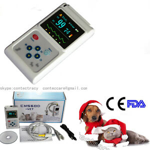 Veterinary Pulse Oximeter Handheld Spo2 Pr Monitor Vet Tongue Probe pc Software