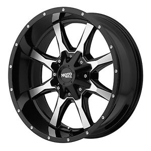 16x8 Black Wheels Rims Moto Metal 970 1990 2004 Chevy Gmc 1500 Trucks 6x5 5 0mm