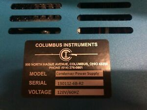 Columbus Instruments Condenser Power Supply 120v 60hz