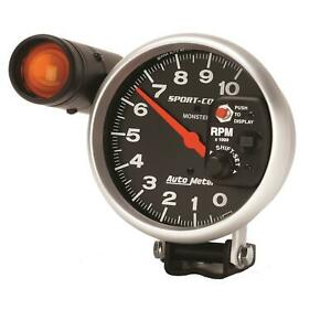 Autometer Sport comp Monster Shift lite Tachometer 0 10 000 5 Dia Blk Face 3904
