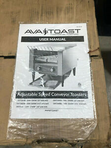 Commercial Avantco T140 Electric Conveyor Ava Toaster 3 Opening Compact Toast