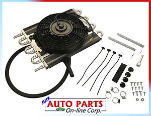 Transmission Oil Cooler W Fan 8 Heavy Duty Performance Universal Fits All Car