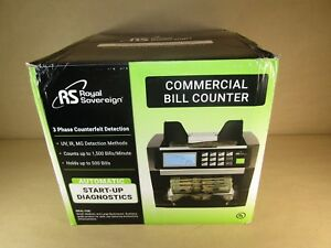 Royal Sovereign Digital Cash Counter Holds Up To 500 Bills Open Box
