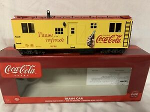 ✅K-LINE SMOKING COCA COLA BUNK CAR! COKE SODA POP O GAUGE TRAIN CABOOSE