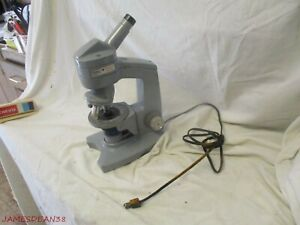 American Optical Model Fifty Monocular Microscope W 3 Ao Spencer Objectives