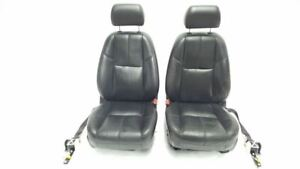 Pair Of Front Seats 2007 2008 Yukon Denali Tahoe Black Leather Oem