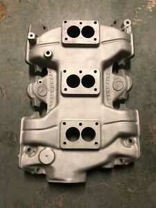 Offenhauser Tri Power Intake Manifold For Small Base Rochester Carbs