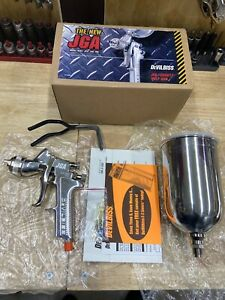 Devilbiss Auto Paint Jga 635g 14 Hvlp Gravity Feed Spray Gun Cup 350 1 4