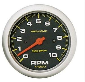 Autometer Pro comp Tachometer 0 10 000 3 3 8 Dia In dash Black Face 5161