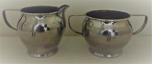 Sterling Silver Creamer Sugar Clarence A Vanderbilt Mono W 154g Not Weighted Exc