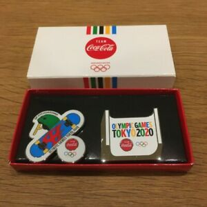 2020 Tokyo Olympics ✖ Coca cola Pin badge set Skateboard ver Limited Japan