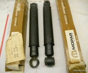 Nos Mopar 1962 1969 Plymouth Barracuda Dodge Dart Rear Shock Absorbers 2539000