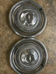 Pair Of 15 Vintage Chevy chevrolet Hubcap Wheelcovers