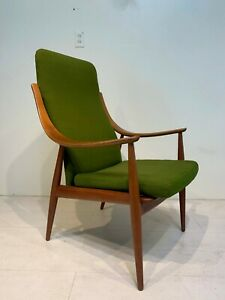 Mid Century Modern High Back Lounge Chair By Peter Hvidt Orla M Lgaard Nielsen