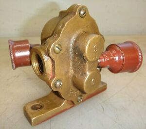 Lobee Brass Body Gear Pump For Hit And Miss Old Gas Engine 1 2 Pipe Very Nice