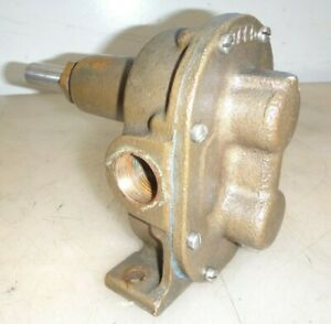 Teel Brass Body Gear Pump For Hit And Miss Old Gas Engine 3 4 Pipe Very Nice