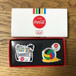 2020 Tokyo Olympics ✖ Coca cola Pin badge set Beach Volleyball ver