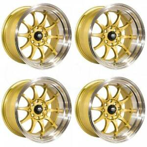 15x8 Mst Mt11 4x100 4x114 3 0 Gold Wheels Rims Set 4